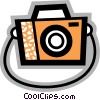 Vector Clipart graphic  of a Camera with strap