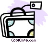 Suitcase with tag Vector Clip Art picture