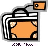 Suitcase with tag Vector Clipart picture