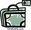 Vector Clipart graphic  of a Suitcase with tag