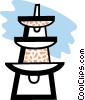 Vector Clip Art graphic  of a Hydro towers