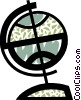 Spinning globe Vector Clip Art picture