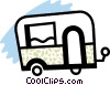 Travel trailer Vector Clipart illustration