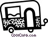 Vector Clip Art image  of a Travel trailer