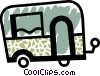 Vector Clip Art graphic  of a Travel trailer
