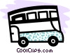 Vector Clipart graphic  of a Double decker bus