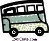 Double decker bus Vector Clip Art picture