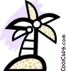 Vector Clipart picture  of a Palm tree with coconuts