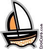 Vector Clipart picture  of a Sailboat in the ocean