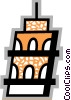 Leaning Tower of Pisa Vector Clipart graphic