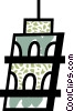 Vector Clipart image  of a Leaning Tower of Pisa