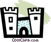 Vector Clip Art image  of a Castle