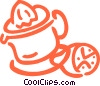 Juicer with sliced lemon Vector Clip Art graphic