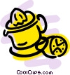 Vector Clipart image  of a Juicer with sliced lemon