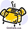 Toaster with bread Vector Clip Art picture