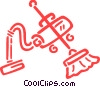Vacuum Cleaner with broom Vector Clip Art picture