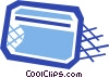 Vector Clip Art image  of a Credit card