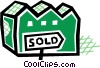 Vector Clipart picture  of a Sold property