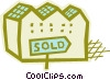 Sold property Vector Clip Art image