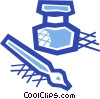 Ink well and fountain pen Vector Clip Art graphic