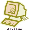 Vector Clip Art graphic  of a Computer workstation