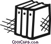 Vector Clip Art image  of a Three textbooks