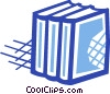 Three textbooks Vector Clip Art picture