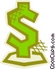Dollar sign Vector Clipart illustration
