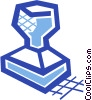 Rubber stamp Vector Clipart illustration