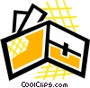 Vector Clipart graphic  of a Wallet with credit cards