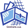 Vector Clip Art image  of a Wallet with credit cards