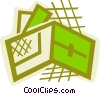 Wallet with credit cards Vector Clip Art picture