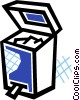 Vector Clipart picture  of a Open garbage can