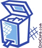 Vector Clipart illustration  of a Open garbage can