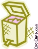 Vector Clipart graphic  of a Open garbage can