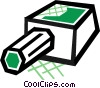 Vector Clipart illustration  of a Pencil and sharpener