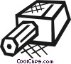 Pencil and sharpener Vector Clip Art image
