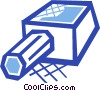 Vector Clip Art picture  of a Pencil and sharpener