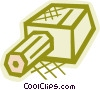 Pencil and sharpener Vector Clip Art graphic