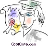 Graduate with diploma Vector Clip Art image