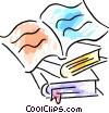 Opened Book Vector Clipart picture