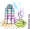 Thermos with coffee Vector Clipart illustration