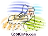 Hiking boot Vector Clip Art graphic