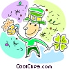 Vector Clip Art graphic  of a celebrating St. Patrick's day