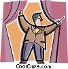 Orchestra conductor Vector Clipart picture