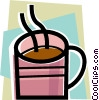 Hot cup of coffee Vector Clipart graphic