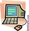 Vector Clipart illustration  of a Computer workstation