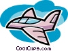 Vector Clipart image  of a Commercial airplane