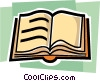 Vector Clipart graphic  of a Open book