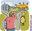 Vector Clipart illustration  of a Decision and Options